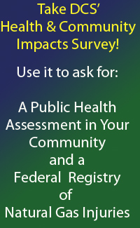 Take DCS'  Natural Gas Health & Impacts Survey